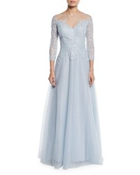 Rickie Freeman For Teri Jon Lace And Tulle Fairy Tale Ball Gown Light Blue