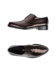 Jimmy Choo London Footwear Lace Up Shoes Men Bronze