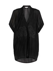 Lila Eugenie 1752 Cotton Blend Voile Kaftan Black