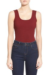 Women's Missguided Rib Knit Sleeveless Bodysuit