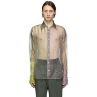 Cmmn Swdn Grey Organza Cecil Strike Off Shirt