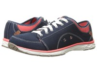 Dr. Scholl's Anna Navy Canvas Women's Lace Up Casual Shoes Blue