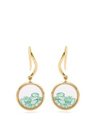 Aurelie Bidermann Fine Jewellery Chivor Emerald And Yellow Gold Earrings