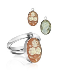 Mia And Beverly Cameo Charm Ring Multicolor