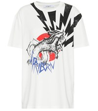 Givenchy Printed Cotton T Shirt White