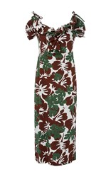 Rosie Assoulin Blooming Onion Midi Dress Print