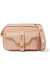 Tom Ford Hollywood Leather Shoulder Bag Beige