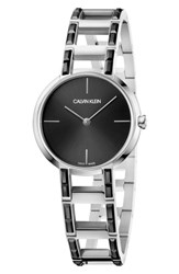 Calvin Klein Cheers Swarovski Bracelet Watch 32Mm Silver Black Silver