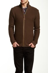 Lindbergh Knit Zip Cardigan Green