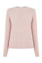 Warehouse Scallop Stitch Jumper Pink