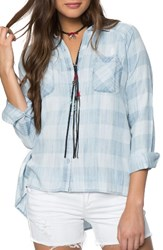 O'neill Women's Aussie Check Chambray Top