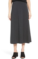 Eileen Fisher Women's Stretch Tencel Jersey Midi Skirt Charcoal