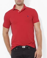 Polo Ralph Lauren Custom Short Sleeved Cotton Mesh Polo Slim Fit Rl Red