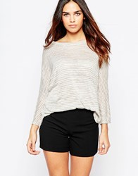 Wal G Knitted Top Grey