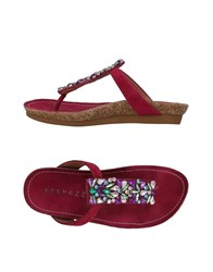 Apepazza Toe Strap Sandals Fuchsia