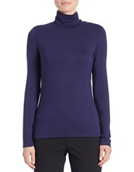 Lord And Taylor Fitted Turtleneck Evening Blue