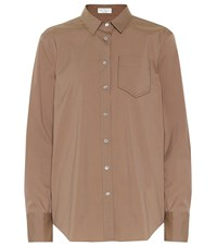 Brunello Cucinelli Cotton Blend Shirt Brown