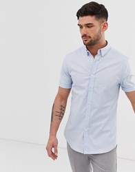 New Look Oxford Shirt In Muscle Fit In Light Blue