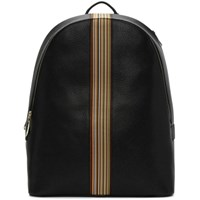 Paul Smith Black Multi Stripe Rucksack