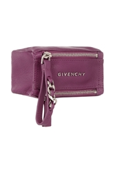 Givenchy Small Pandora Coin Pouch In Magenta Textured Leather