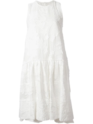 Dondup Jacquard Flared Dress White