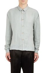 Haider Ackermann Chevron Jacquard Shirt Blue