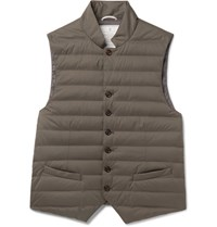 Brunello Cucinelli Quilted Hell Gilet Green