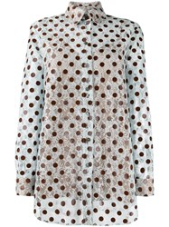 Marco De Vincenzo Embroidered Polka Dot Shirt 60