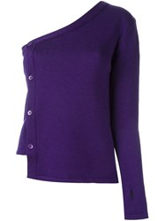 Jacquemus One Sleeve Cardigan Pink And Purple