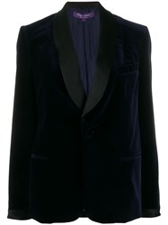 Ralph Lauren Collection Contrast Single Breasted Blazer Blue