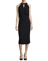 Jason Wu Halter Neck Open Back Sheath Dress Black