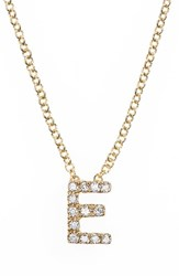 Bony Levy Women's Pave Diamond Initial Pendant Necklace Nordstrom Exclusive Yellow Gold E