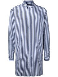 Juun.J Longline Striped Shirt Blue