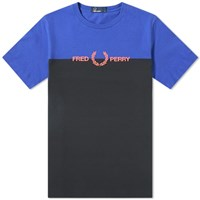 Fred Perry Authentic Split Logo Tee Blue