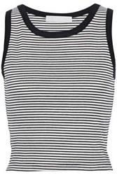 Kain Label Woman Striped Ribbed Knit Top White