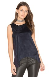 Bishop Young Sueded Paulina Tank Navy