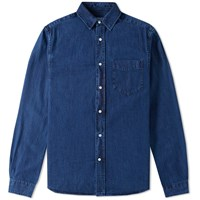 Gant Rugger Indigo Denim Shirt Blue