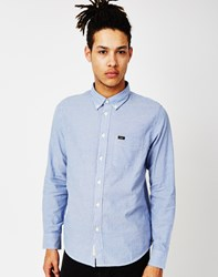 Lee L880 Button Down Regular Fit Shirt Blue