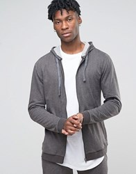 Esprit Hoodie With Zip Through Grey