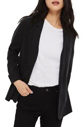 Topshop Women's Washed Boyfriend Blazer Washed Black