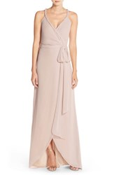 Women's Ceremony By Joanna August 'Parker' Twist Strap Chiffon Wrap Gown All Tomorrows Parties