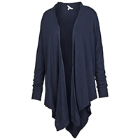 Fat Face V Back Waterfall Cardigan Navy