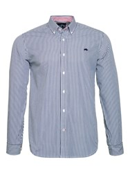 Raging Bull Men's Candy Stripe Shirt Navy