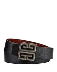 Givenchy 4 G Reversible Leather Belt Black Brown
