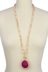 Saachi Faith's Pink Mystic Agate Pendant Necklace