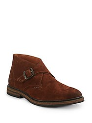 Frye William Monk Strap Shoes Brown