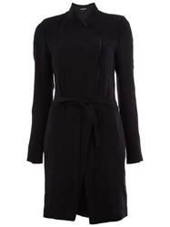 Ann Demeulemeester Button Fastening Long Wrap Coat Black