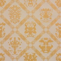Flavor Paper Andy Warhol X Rorschach Wallpaper Sample Swatch Golden Peach On Linen Clay Coated Sample