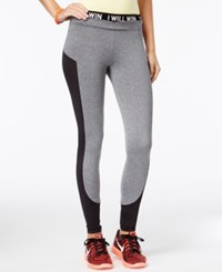 Energie Juniors' Mesh Inset Leggings Heather Grey