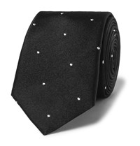 Paul Smith Polka Dot Silk Tie Black